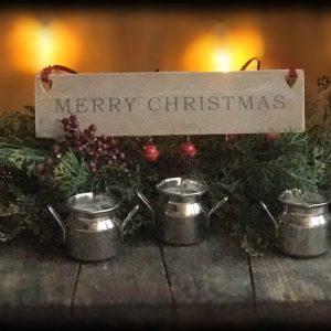 The Cattleshed Candle Company Milk Churn Mini Candle trio
