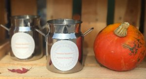 Unique Milk Churn Candle from the Cattleshed Candle Company- Sweater Weather - Spiced Pumpkin